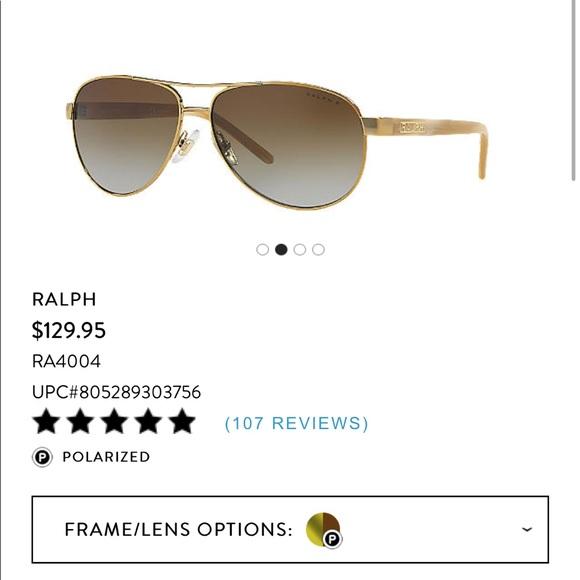 9f3e89f62f69 RALPH Ralph Lauren Gold & Cream Aviator Sunglasses.  M_5a9d849b9cc7ef3931eefce3